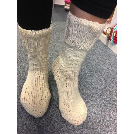 Ponožky krémová