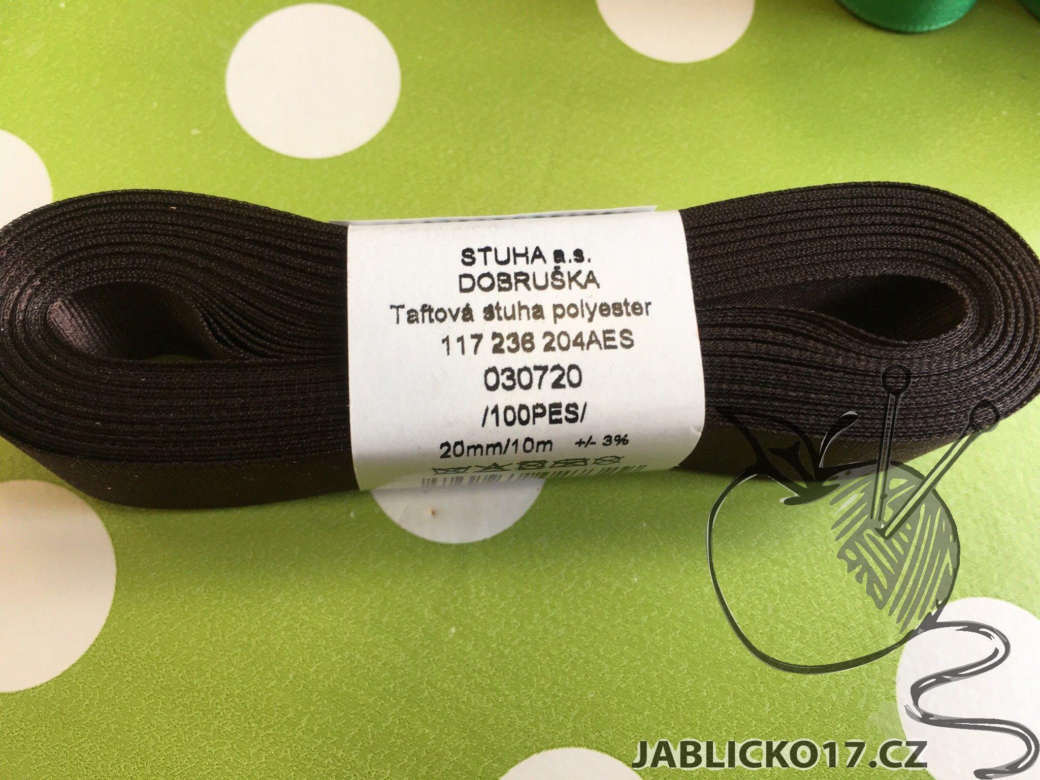 Taftová stuha zelená 20mm