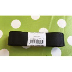 Taftová stuha černá  25mm