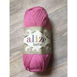 Háčkovací a pletací příze bella - malina