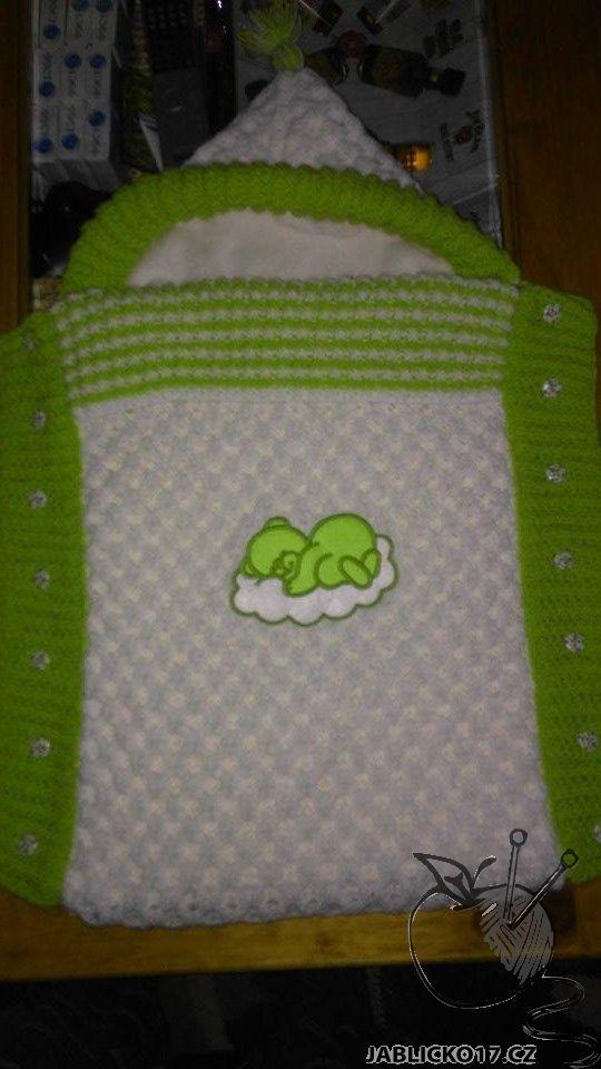 Pletený dětský fusak -  malina