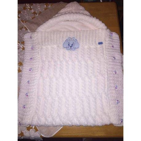 Pletený dětský fusak -  bílá