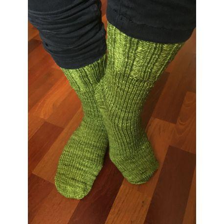 Ponožky pletené samovzorovací do růžova