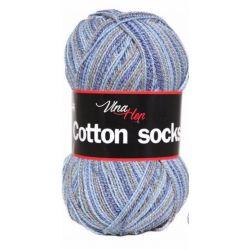 Cotton socks - fialovo růžoý melír