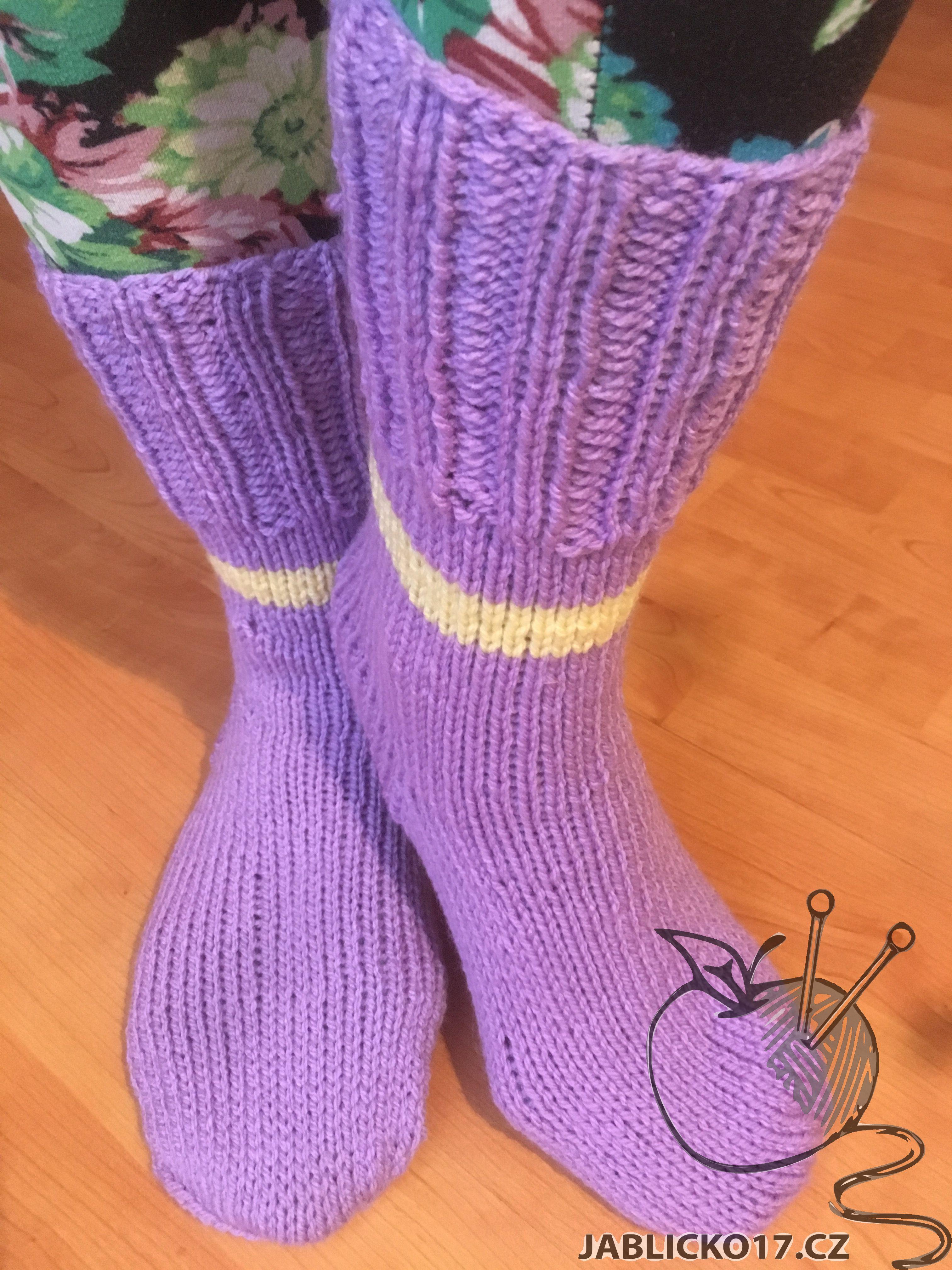 Ponožky fialová