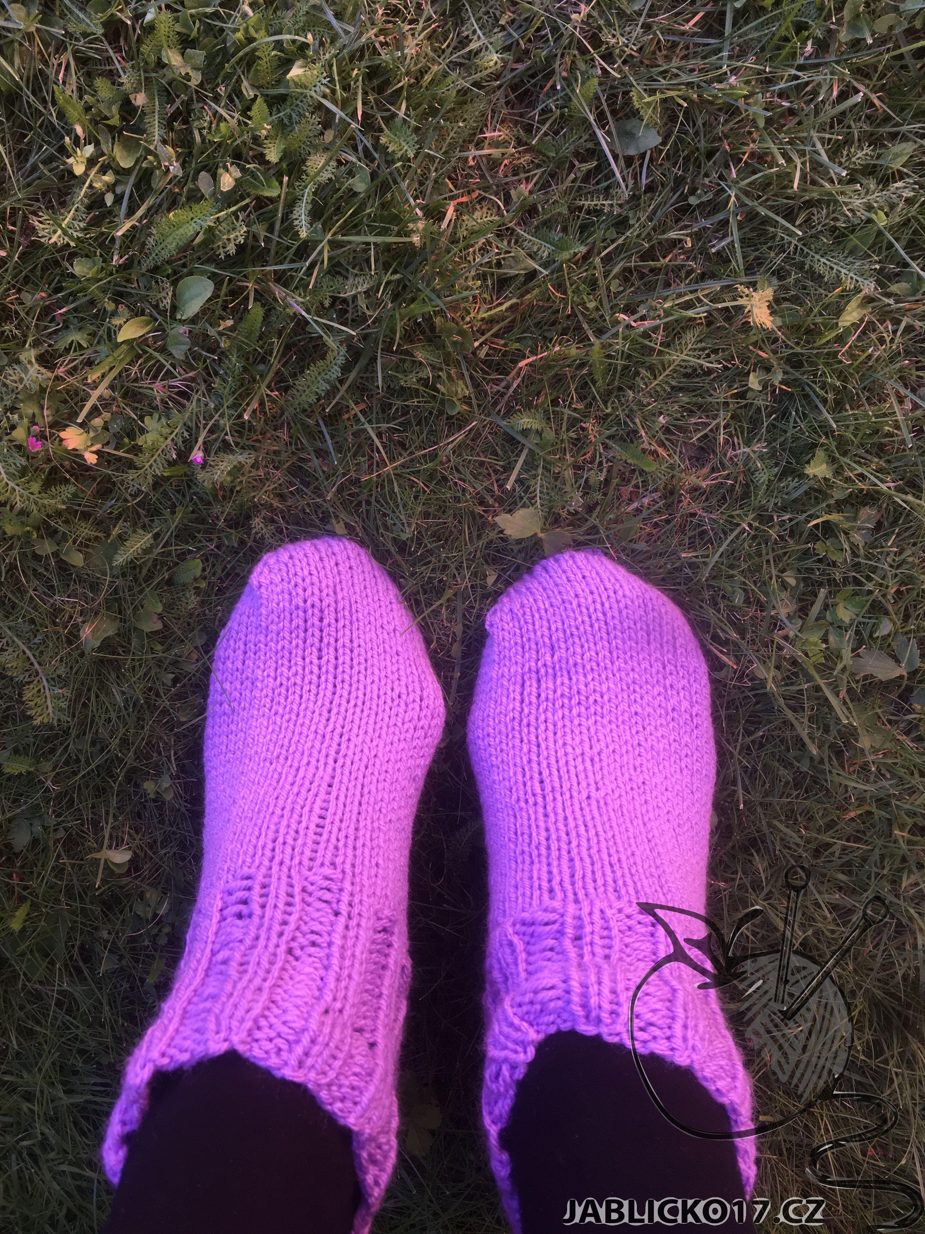 Kotníkové ponožky - fialová
