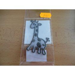 Nažehlovačka - žirafa - šedá