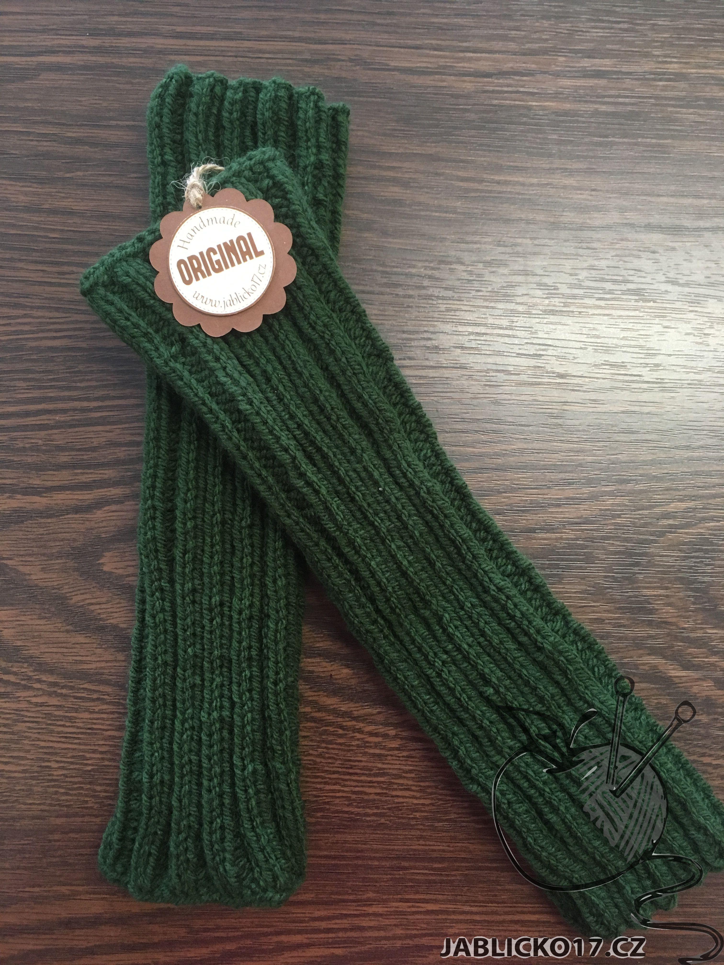 Zelené návleky na nohy