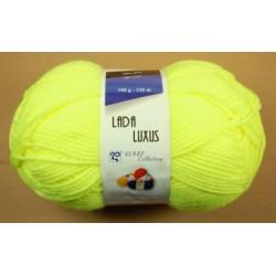 Pletací příze Lada luxus - žlutá neon