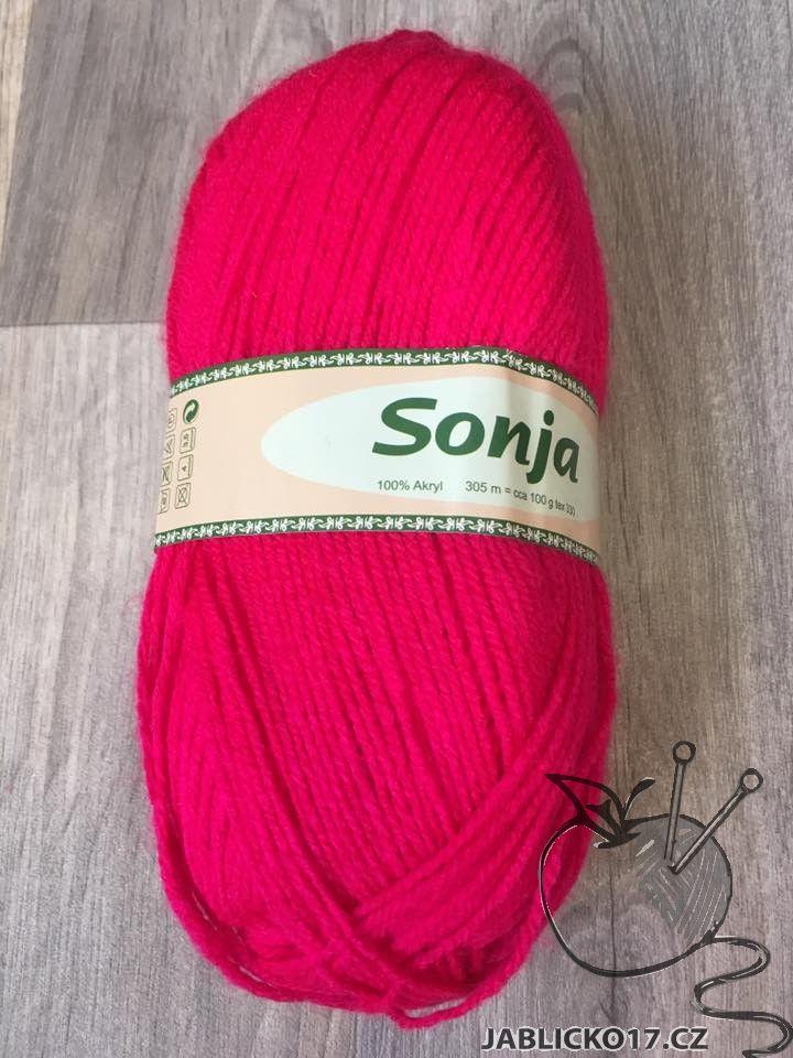 Pletací příze Sonja - zářivá růžová