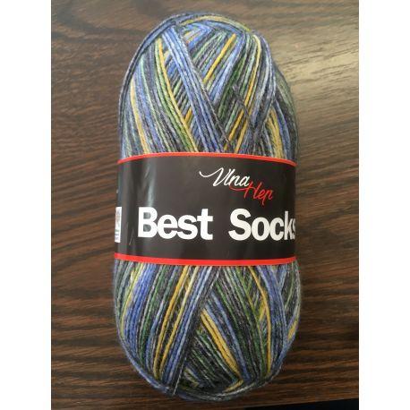 Best Socks - modro melírovaná