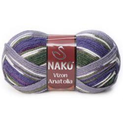 VIZON ANATOLIA zeleno fialový melír