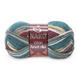 VIZON ANATOLIA modrozelený melír