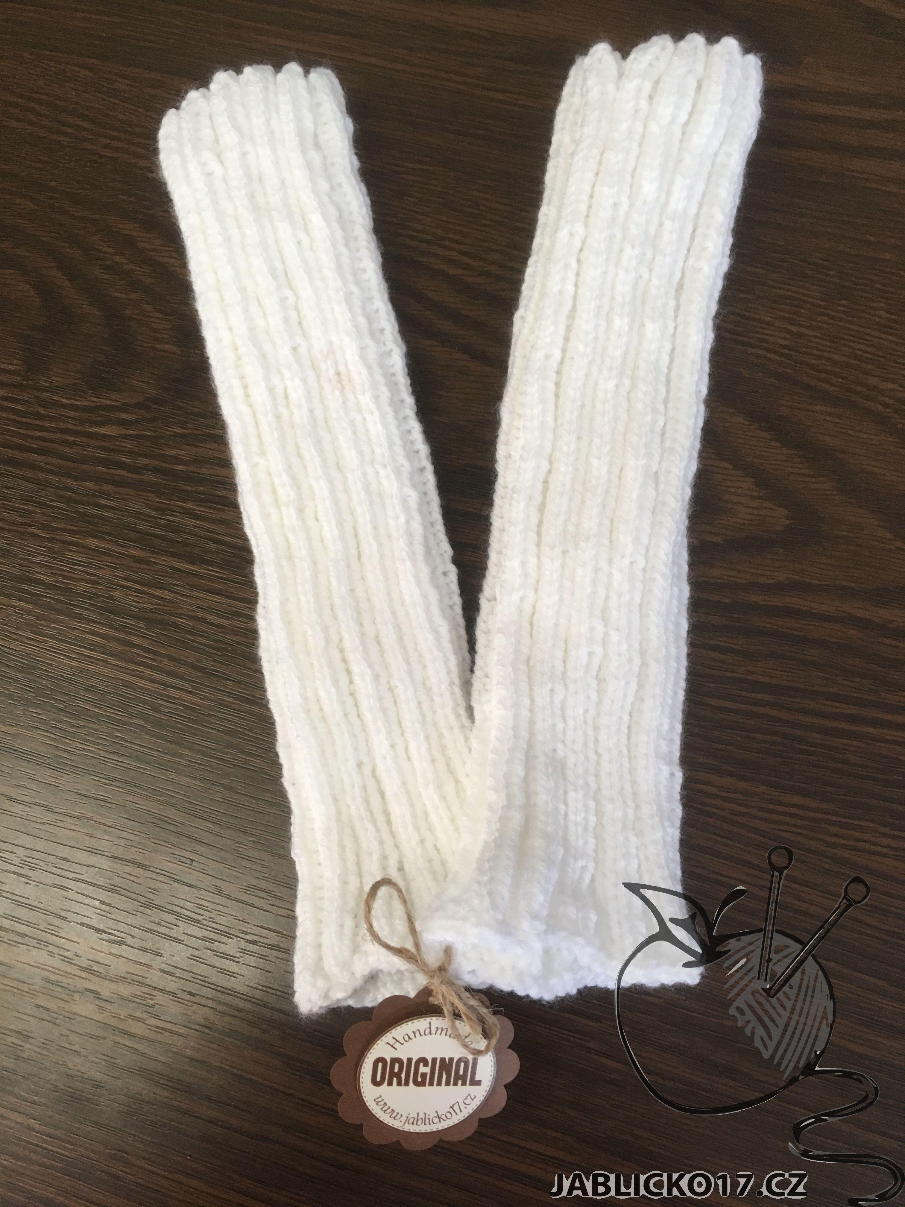 Bílé návleky na nohy