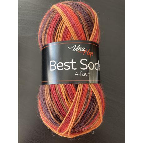 Best Socks - oranžová melírovaná