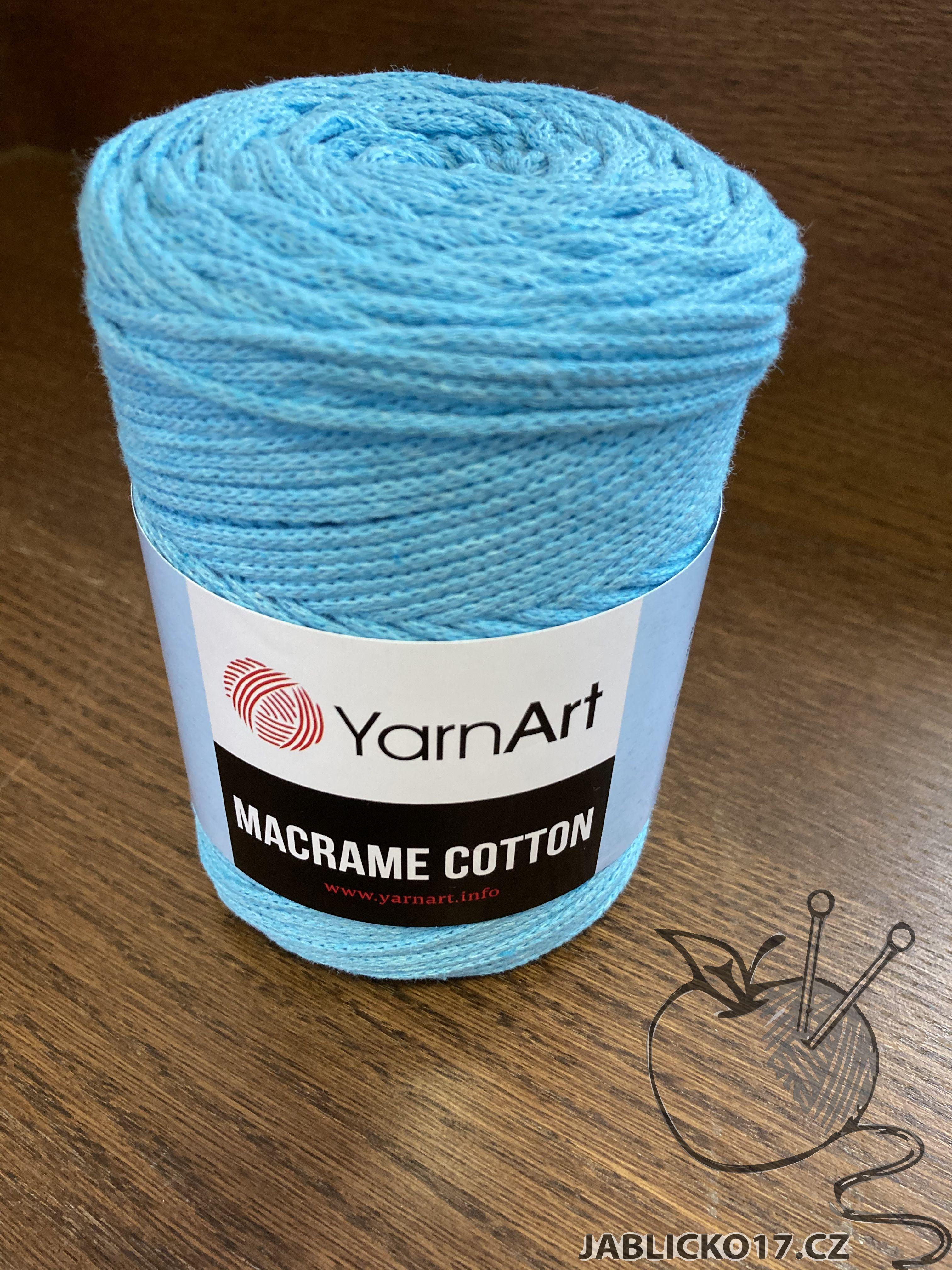 Macrame cotton modrá