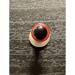 Bezpečnostní oko 8mm červená