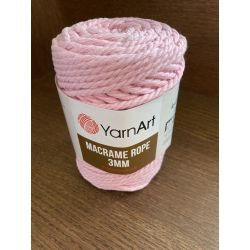 Macrame ROPE 3MM růžová