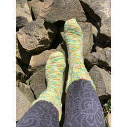 Ponožky samovzorovací - barva je křiklavější!