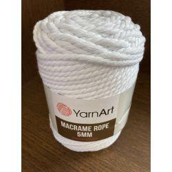 Macrame ROPE 5mm bílá