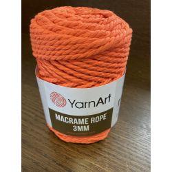 Macrame ROPE 3MM neon oranžová