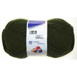Pletací příze Lada luxus - vojenská zelená