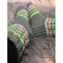 Kotníkové ponožky - šedá